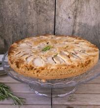 Kriaušių pyragas su rozmarinais