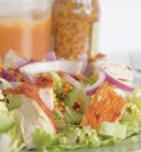 Saldžiarūgštės vištienos salotos