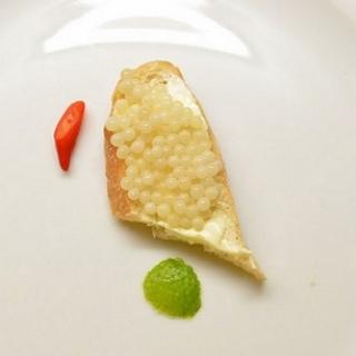 Sraigių ikrai, eksperimentai, degustacija