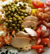 Ala salotos arba vištienos kepsnys skitaip