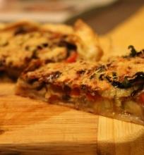 Baklažanų ir pomidorų pyragas
