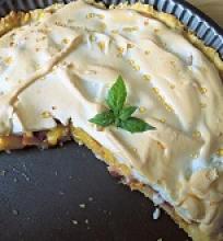 Dangiškas persikų ir nektarinų pyragas