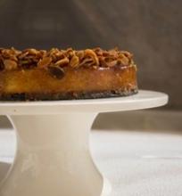 Karamelinis migdolų pyragas