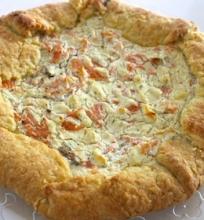 Lašišos ir sūrio pyragas