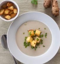 Jeruzalės artišokų (topinambų) sriuba