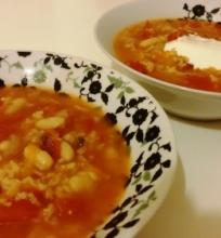 Labai pomidorinė sriuba