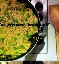 Kinietiški ryžiai su kiaušiniais