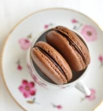Šokoladiniai macarons