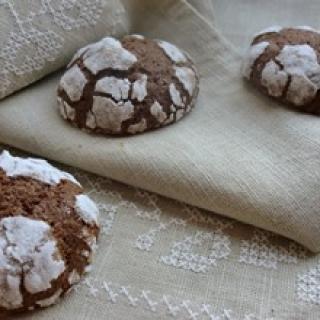 Pirmo sniego šokoladiniai sausainiai