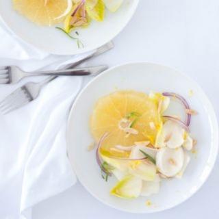 Greipfrutų ir trūkažolių salotos