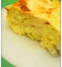 Sūrio ir lavašo pyragas