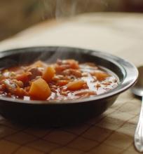 Burokėlių sriuba su grybais