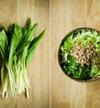 Žalios salotos su pavasario vitaminais (veganiškos, žaliavalgiškos)