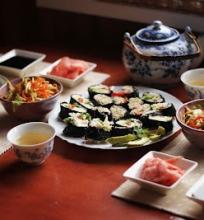 Žaliavalgiškas suši