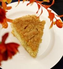 Prancūziškas Migdolų Pyragas su Žaliosios Arbatos ir Medaus Sirupu