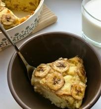 Bananų ir duonos apkepas
