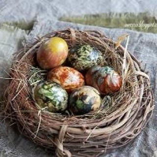 Kiaušinių marginimas augalais