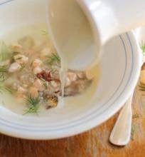Lašišos galvos sriuba su sviestu