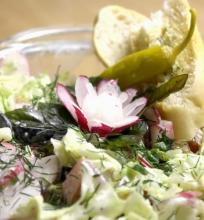 Gaivios ir sočios velykinės salotos