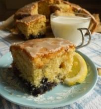 Mėlynių ir citrinų pyragas