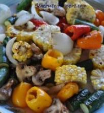 Daržovių melanžas ant grilio