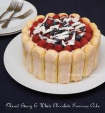 Uogų ir balto šokolado tiramisu tortas