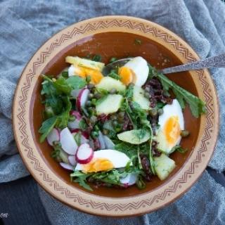 Bulvių salotos su ridikėliais…