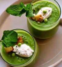 Žaibiška žaliųjų žirnelių sriuba