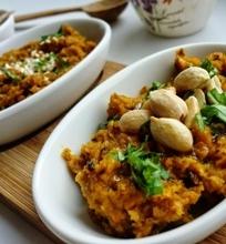 Keptų morkų humusas