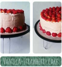 Vanilinis braškių tortas