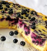 Grietininis mėlynių pyragas