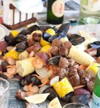 Virtos midijos ir krevetės