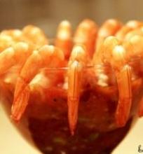 Meksikietiškas krevečių kokteilis