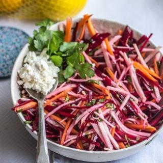 Žieminių daržovių salotos