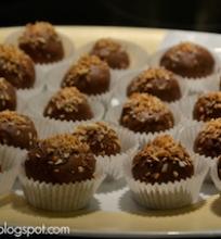 Kokosiniai saldainiai su šokoladu