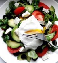 Salotos su skystu kiaušiniu