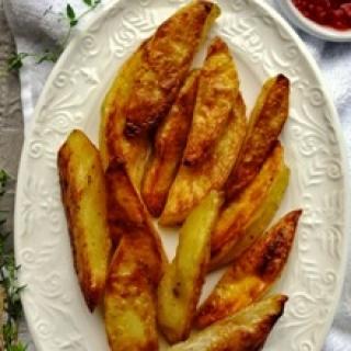 Orkaitėje keptos traškios bulvytės
