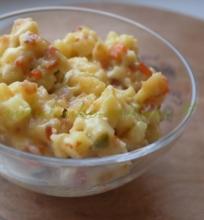 Bulvių troškinys su sūriu