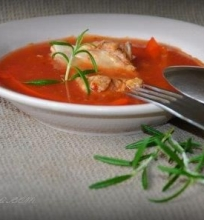 Pomidorų sulčių sriuba