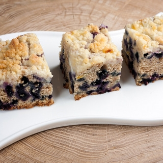 Mėlynių pyragas su mascarpone sūriu