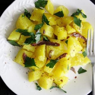 Bulvių Salotos su Ančiuviais
