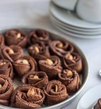Kakaviniai rožės sausainiai