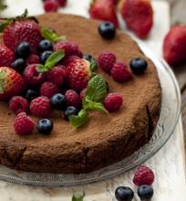 Juodojo šokolado pyragas