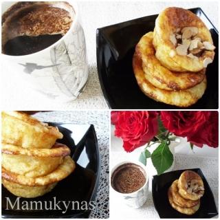 Kava su cinamonu ir varškėčiai kepti orkaitėje