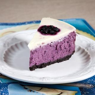 Mėlynių varškės pyragas