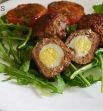 škotiški kiaušiniai (su putpelių kiaušiniais)