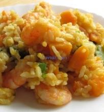 Ryžiai su krevetėmis