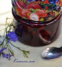 Vyšnių uogienė su žemės riešutais