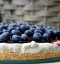 Mėlynių ir graikiško jogurto pyragas