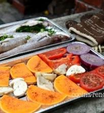 Grilinam žuvį ir daržoves